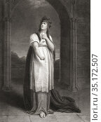 Lady Macbeth. An engraving by James Parker after a painting by Richard... Редакционное фото, фотограф Classic Vision / age Fotostock / Фотобанк Лори