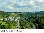Сельский пейзаж, земля Рейнланд-Пфальц, Германия (2018 год). Стоковое фото, фотограф V.Ivantsov / Фотобанк Лори