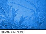 Настоящие ледяные узоры на окне. Стоковое фото, фотограф Наталья Горкина / Фотобанк Лори
