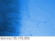 Ледяные узоры. Стоковое фото, фотограф Наталья Горкина / Фотобанк Лори
