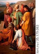 Art, Luigi Mussini, 1813-1888, title of the work, The triumph of ... Стоковое фото, фотограф Molteni&Motta / age Fotostock / Фотобанк Лори
