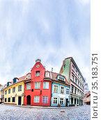 Streets of Riga Old Town, Latvia (2019 год). Стоковое фото, фотограф Ints VIkmanis / Фотобанк Лори