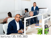 Refresher courses for managers in business school. Стоковое фото, фотограф Яков Филимонов / Фотобанк Лори