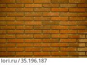 Red brick wall full frame background texture. Стоковое фото, фотограф Данил Руденко / Фотобанк Лори