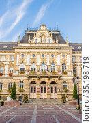 Town Hall in Bielsko Biala, Silesian Voivodeship, Poland, Europe. Стоковое фото, фотограф Chris Mouyiaris / age Fotostock / Фотобанк Лори