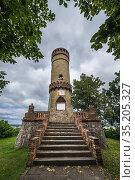 Exterior of Observation tower from 1895 in Cedynia town, West Pomerania... Стоковое фото, фотограф Konrad Zelazowski / age Fotostock / Фотобанк Лори