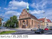 Saints Peter and Paul church in Szczecin city, West Pomeranian Voivodeship... Стоковое фото, фотограф Konrad Zelazowski / age Fotostock / Фотобанк Лори