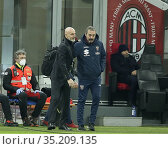 Marco Giampaolo Coach torino, Stefano Pioli Coach Milan during the... Редакционное фото, фотограф Alberto Ramella / AGF/Alberto Ramella / AGF / age Fotostock / Фотобанк Лори