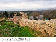 Walls of roman ruins of Olerdola, Barcelona province, Catalonia, Spain... Стоковое фото, фотограф Josep Curto / easy Fotostock / Фотобанк Лори