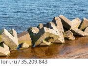 Набросной мол не Ладожском озере. Стоковое фото, фотограф Александр Щепин / Фотобанк Лори