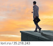 Businessman ready for new challenges in business concept. Стоковое фото, фотограф Elnur / Фотобанк Лори