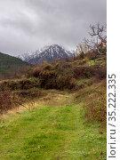 Mountain expanses in the highlands (Greece, Peloponnese) on a winter. Стоковое фото, фотограф Татьяна Ляпи / Фотобанк Лори
