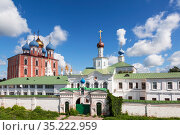 View of the Assumption Cathedral and the temples of the Ryazan Kremlin. Ryazan, Russia (2017 год). Стоковое фото, фотограф Наталья Волкова / Фотобанк Лори