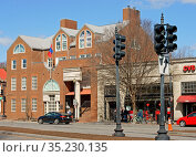 Mongolian Embassy in Washington, D.C., diplomatic mission of Mongolia to United States. It is located at 2833 M Street Northwest, Washington, D.C. in Georgetown neighborhood (2019 год). Редакционное фото, фотограф Валерия Попова / Фотобанк Лори