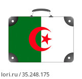Algeria country flag in the form of a travel suitcase. Стоковое фото, фотограф Zoonar.com/Evgeny Babaylov / easy Fotostock / Фотобанк Лори