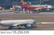 Boeing 777 towing from service (2019 год). Редакционное видео, видеограф Игорь Жоров / Фотобанк Лори