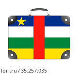 Flag of the country of Central African Republic in the form of a suitcase... Стоковое фото, фотограф Zoonar.com/Evgeny Babaylov / easy Fotostock / Фотобанк Лори