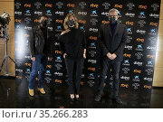 Antonio Banderas (L), Maria Casado and Mariano Barroso (R) attend... Редакционное фото, фотограф Nacho López / age Fotostock / Фотобанк Лори