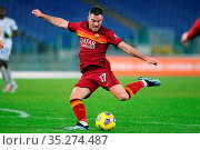 Jordan Veretout (Roma) during the match ,Rome, ITALY-31-01-2021. Редакционное фото, фотограф Federico Proietti / Sync / AGF/Federico Proietti / / age Fotostock / Фотобанк Лори