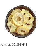 Яблочные сушеные кольца. Стоковое фото, фотограф Мария Кылосова / Фотобанк Лори