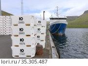 Faroese trawler in Vagar, Faroe Islands. Стоковое фото, фотограф Andre Maslennikov / age Fotostock / Фотобанк Лори
