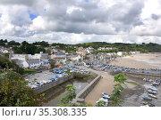 Saundersfoot. A seaside resort town in Pembrokeshire, Wales.Saundersfoot... Стоковое фото, фотограф Dariusz Gora / easy Fotostock / Фотобанк Лори