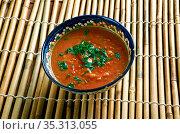 Lauki Chane Ki Dal - Indian curry lentil dish. Стоковое фото, фотограф Zoonar.com/MYCHKO / easy Fotostock / Фотобанк Лори