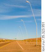 Empty highway at arid landscape environment, san juan province, argentina... Стоковое фото, фотограф Zoonar.com/Daniel Ferreira-Leites Ciccarino / easy Fotostock / Фотобанк Лори