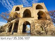 Torres de Serranos. Valencia. Comunidad Valenciana. Spain. Стоковое фото, фотограф Javier Larrea / age Fotostock / Фотобанк Лори