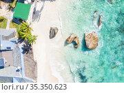 Seychelles Takamaka beach Mahe island villa house nature vacation... Стоковое фото, фотограф Markus Mainka / easy Fotostock / Фотобанк Лори