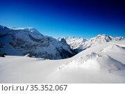 Mountain peaks panorama of Pralognan-la-Vanoise. Стоковое фото, фотограф Сергей Новиков / Фотобанк Лори