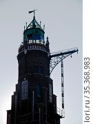 Leuchtturm Bremerhaven im Gegenlicht, Bremerhaven Oberfeuer, Neuer... Стоковое фото, фотограф Zoonar.com/Stefan Ziese / age Fotostock / Фотобанк Лори