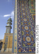 Detail of shrine of Fatima al-Masumeh, Qom, Iran. Стоковое фото, фотограф Massimo Pizzotti / age Fotostock / Фотобанк Лори