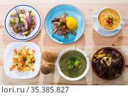 Various dishes of traditional Norwegian cuisine. Стоковое фото, фотограф Яков Филимонов / Фотобанк Лори