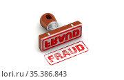Fraud. The stamp and an imprint. Стоковая анимация, видеограф WalDeMarus / Фотобанк Лори