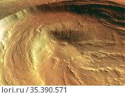 MARS Biblis Patera -- 08 Nov 2004 -- This perspective view of the... Редакционное фото, фотограф Jonathan William Mitchell / age Fotostock / Фотобанк Лори
