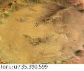 MARS Galle Crater -- 2004-2006 -- Close-up view of Crater Galle, ... Редакционное фото, фотограф Jonathan William Mitchell / age Fotostock / Фотобанк Лори
