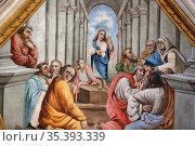 Jesus Christ conversing with the Doctors of the Church. Casimir Vicario... Стоковое фото, фотограф Catherine Leblanc / easy Fotostock / Фотобанк Лори