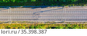 Stuttgart, Deutschland - 29. Juli 2020: Eisenbahnstrecke Gleise Schienen... Стоковое фото, фотограф Zoonar.com/Markus Mainka / easy Fotostock / Фотобанк Лори