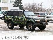 Toyota Land Cruiser 80. Редакционное фото, фотограф Art Konovalov / Фотобанк Лори