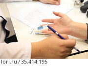 Измерение кислорода в крови. Стоковое фото, фотограф Кристина Викулова / Фотобанк Лори