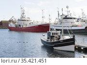 The harbor in central Torshamn. Faroe Islands. Стоковое фото, фотограф Andre Maslennikov / age Fotostock / Фотобанк Лори