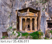 Lycian Rock Tombs. Fethiye. Turkey. Стоковое фото, фотограф Яков Филимонов / Фотобанк Лори
