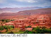 Small village Telouet in Atlas mountains, Morocco. Стоковое фото, фотограф Zoonar.com/Pawel Opaska / easy Fotostock / Фотобанк Лори
