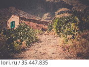 Gravel road leading to a small village home ( looking abandoned )... Стоковое фото, фотограф Zoonar.com/Pawel Opaska / easy Fotostock / Фотобанк Лори