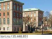 Columbia University Central Campus Educational Buildings. New York City. USA. Редакционное фото, фотограф Валерия Попова / Фотобанк Лори