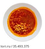 Traditional Turkish stewed bean dish Kuru fasulye. Стоковое фото, фотограф Яков Филимонов / Фотобанк Лори