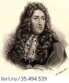 Andre Lenotre (1613-1700) French landscape architect. Among the gardens... Редакционное фото, агентство World History Archive / Фотобанк Лори