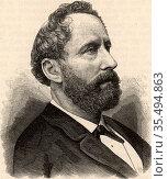 Eduard Suess (1831-1914) Austrian geologist, born in London. He proposed... Редакционное фото, агентство World History Archive / Фотобанк Лори