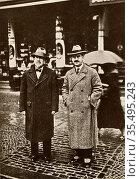 Thomas Mann (1875-1955) German novelist and brother of Heinrich Mann. Редакционное фото, агентство World History Archive / Фотобанк Лори